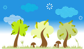 natur krajobrazowi drzewa Obraz Royalty Free
