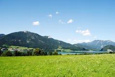 Natur landskap, sjö Wolfgangsee Royaltyfri Foto