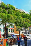 Natur Liechtenstein för Vaduz stadvår Arkivfoton