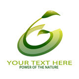 Natur-Logo Stockbild