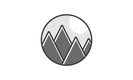 Natur Logo Iconic stock illustrationer