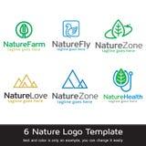 Natur Logo Template Design Vector Arkivbild
