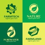 Natur Logo Template Design Vector Royaltyfri Illustrationer