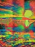 Natur mit einer psychedelischen Note lizenzfreie abbildung