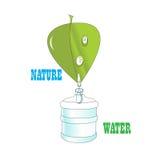 Natur mit Wassertropfen Lizenzfreie Stockfotografie