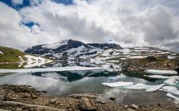 Natur Norge för högt berg Fotografering för Bildbyråer