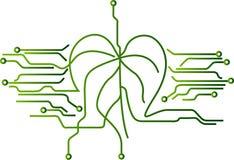 Natur- och elektronikvetenskap royaltyfri illustrationer