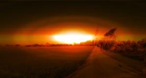 Natur och kärn- begreppsillustrationdesign royaltyfria foton