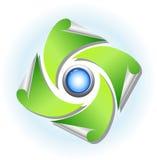 Natur- och miljösymbol Arkivbild