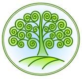 Natur- och miljösymbol med trädet Arkivfoton