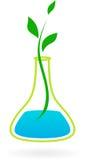 Natur- och vetenskapslogo/symbol stock illustrationer