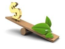 Natur oder Geld Lizenzfreie Stockbilder