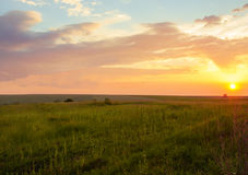 Natur på solnedgången Arkivfoto