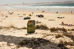 Natur Pur, Schutze morre Dunen, uma apelação no alemão para a proteção da natureza, especialmente as dunas Fotos de Stock Royalty Free