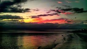 Natur-Regenbogen reflektiert im Golf in Neapel Florida Lizenzfreies Stockbild