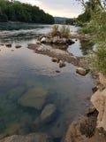 Natur. River natur aare switzerland calm stock photo
