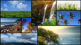 Natur Scenics-Video-Montage stock video footage