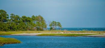 Natur sceny wokoło łowieckich wysp południe Carolina obrazy royalty free