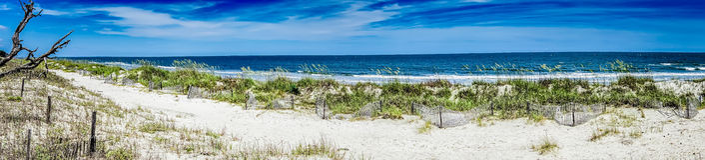Natur sceny wokoło łowieckich wysp południe Carolina obrazy stock