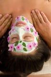 Natur-Schablone und Massage Stockfotografie