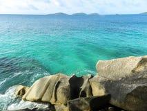 natur seychelles för liggande för la för bakgrundsdigueö Royaltyfri Foto