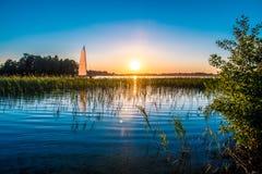 Natur sjö Arkivfoton