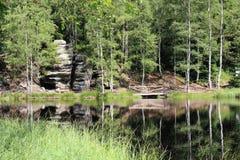 Natur sjö Arkivfoto
