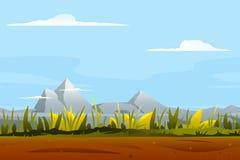 Natur-Spiel-Hintergrund-Landschaft Stockfoto