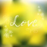Natur spring background. Hand lettered style design Royalty Free Stock Photography