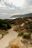 Natur-Spur in Albanien stockfoto