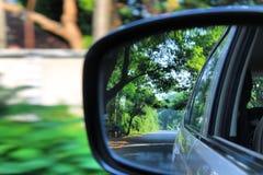 Natur till och med den bakre spegeln Fotografering för Bildbyråer