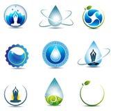 Natur- und Gesundheitswesensymbole stock abbildung