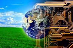 Natur und Technologie Lizenzfreie Stockfotografie