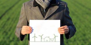 Natur- und Windenergieenergie Lizenzfreies Stockfoto