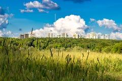 Natur und Zivilisation stockfoto