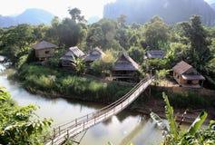 Natur Vang Vieng Stockfoto