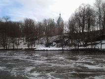 Natur, Winternebenfluß, Winter, Schönheit Stockbild