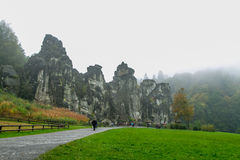Natura autunno roccia 5 ottobre tedesco Fotografia Stock