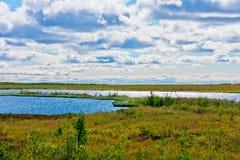 Natura biegunowy region w jesieni Zdjęcia Royalty Free