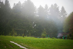 Natura Carpathians nella pioggia Fotografie Stock