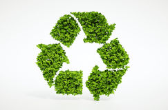 Natura che ricicla simbolo Fotografia Stock Libera da Diritti