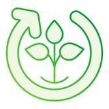 Natura cyklu mieszkania ikona Naturalnego procesu szare ikony w modnym mieszkaniu projektują Rośliny kolarstwa gradientu stylu  royalty ilustracja