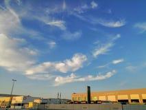 Natura del cielo blu all'aperto fotografia stock