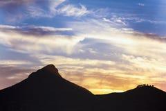 Natura del cielo della montagna Immagine Stock