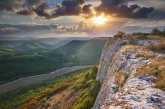 Natura del paesaggio della montagna Fotografia Stock Libera da Diritti