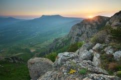 Natura del paesaggio della montagna Fotografia Stock