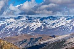 Natura del paesaggio della neve della montagna Immagine Stock