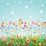 Natura del vettore dei fiori per la decorazione sveglia del sito Web o della carta Immagini Stock Libere da Diritti