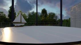 Natura del villaggio di affari di casa dell'ufficio illustrazione vettoriale