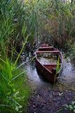 Natura dell'Ucraina Barche sulla sponda del fiume immagine stock libera da diritti